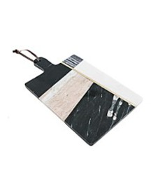 Geometric Color Block Marble Serving Board