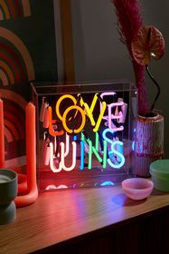 Love Wins Neon Box Light