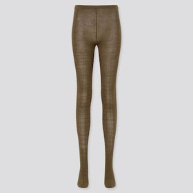 Women Heattech Cable Knitted Tights (Online Exclus