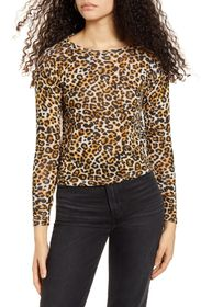 HIATUS Animal Print Hacci Knit Top