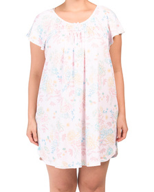Plus Floral Nightgown