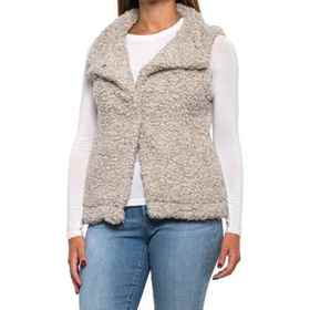 dylan Cozy Faux Shearling Vest (For Women) in Putt