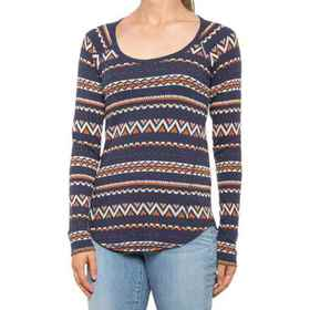 Lucky Brand Fair Isle Thermal Shirt - Long Sleeve
