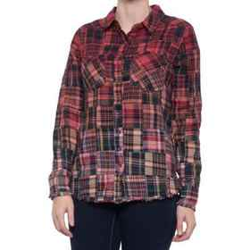 dylan Patchwork Flannel Two-Pocket Shirt - Long Sl