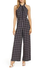 Julia Jordan Halter Neck Pocket Jumpsuit
