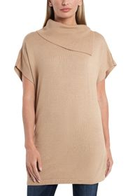 Vince Camuto Foldover Short Sleeve Tunic Sweater