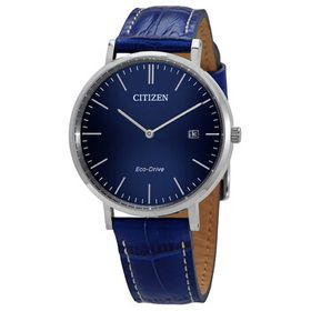 Citizen Citizen Blue Dial Blue Leather Men's Watch