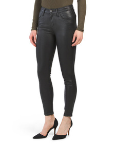 Made In Usa Coated High Rise Skinny Faux Leather P