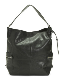 Made In Italy Leather Oversized Hobo