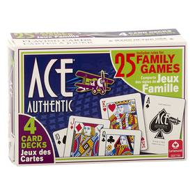 Cartamundi Ace Family Games with Instructions 4-Pa