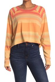 Free People Baja Striped Long Sleeve T-Shirt