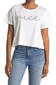 French Connection Nice Graphic Crop T-Shirt