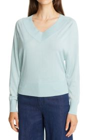 Theory V-Neck Wool Blend Sweater