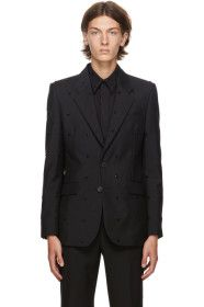 Givenchy - Black Embroidered Evening Blazer