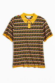 UO Zeke Stripe Sweater Polo Shirt
