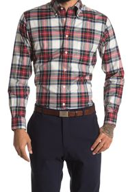 Brooks Brothers Holiday Tartan Plaid Print Regular