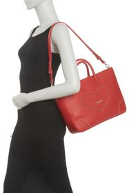LOVE Moschino Heart Studded Tote Shoulder Bag