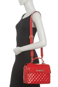 LOVE Moschino Quilted Convertible Shoulder Bag