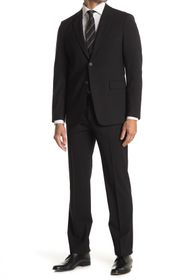Theory Chambers Black Solid Two Button Notch Lapel