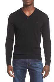 Lacoste Wool V-Neck Sweater