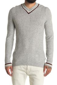 Ben Sherman Striped Classic V-Neck Sweater