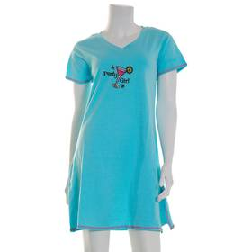 Womens René Rofé Short Sleeve Party Girl Embroider
