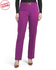 Straight Leg Front Seam Pants