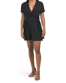 Made In Usa Twist Front Dolman Dress