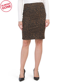 High Waisted Compression Leopard Skirt