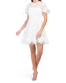 Made In Usa Embroidered Tulle Sora Dress