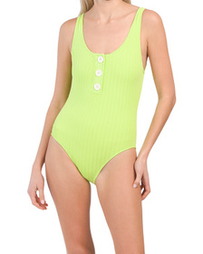 The Anne Marie Button Rib One-piece Swimsuit