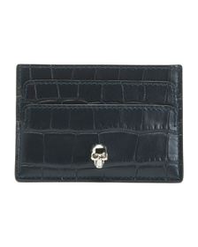 Made In Italy Leather Croco Card Holder