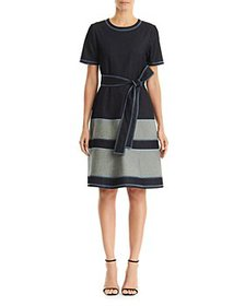 Carolina Herrera - Contrast Stitch Belted Dress