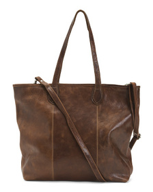 Made In Italy Leather Large Tote