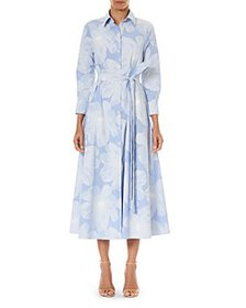 Carolina Herrera - Belted Floral Print Cotton Shir
