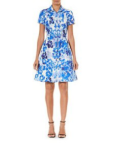 Carolina Herrera - Abstract Print Shirt Dress