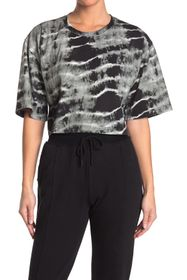 Nicole Miller Embroidery Crop T-Shirt