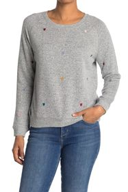philosophy Crew Neck Heart Embroidered Sweater