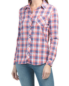 Emery Plaid Button Front Shirt