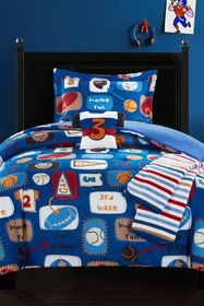 Chic Home Bedding Twin Canival Camp Printed Stitch