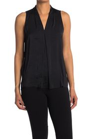 Vince Camuto V-Neck Sleeveless High/Low Top