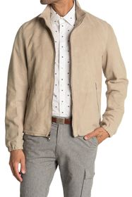 Michael Kors Perforated Leather Track Jacket