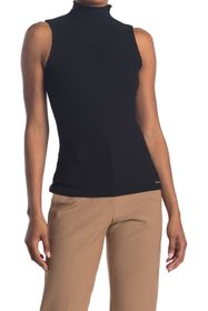 T Tahari Mock Neck Sleeveless Tank Top
