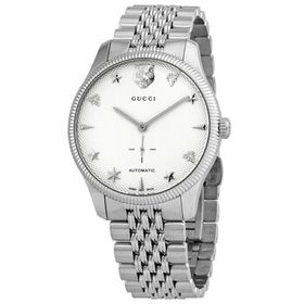 Gucci Gucci G-Timeless Automatic Silver Dial Men's