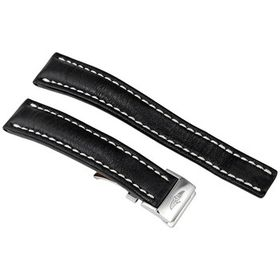 Breitling Breitling 18MM Black Leather Strap 415X-