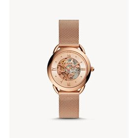 Fossil Fossil Tailor Automatic Rose Skeleton Dial