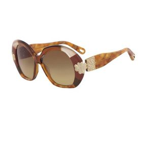 Chloe Chloe Gold Patchwork Ladies Sunglasses CE743