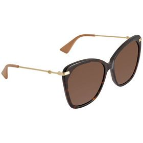 Gucci Gucci Brown Butterfly Ladies Sunglasses GG05