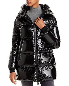 Herno - Hooded Glossy Down Puffer Coat