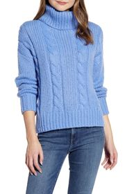 Ceny Cable Knit Turtleneck Sweater